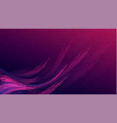 abstract gradient purple pink curve wave stripes vector image