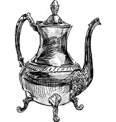 Ancient coffee pot vector