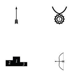 Archery icon set vector