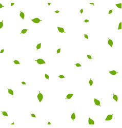 birch leaf green seamless pattern vector image