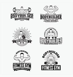 bodybuilder 1 vector image