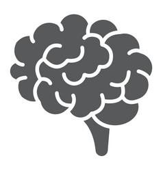 brain glyph icon anatomy and neurology vector image