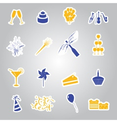 Celebration and party stickers set eps10 vector