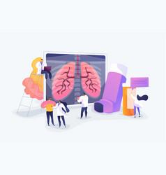 Chronic obstructive pulmonary disease concept vector