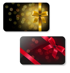 Color Gift Card Set vector
