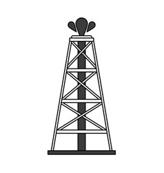 Color silhouette cartoon oil crude tower vector
