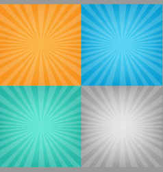 color sunburst background set vector image