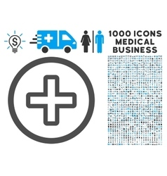 Create Icon with 1000 Medical Business Pictograms vector image