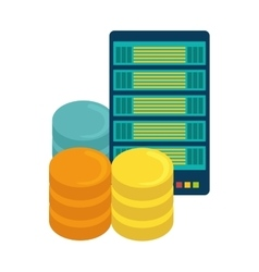 data center storage icon image vector image