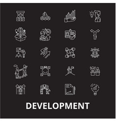 development editable line icons set on vector image