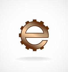 E letter logo template Gear technical concept vector