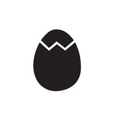 egg icon in flat style for app ui websites black vector image