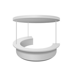 Empty retail stand isolated vector