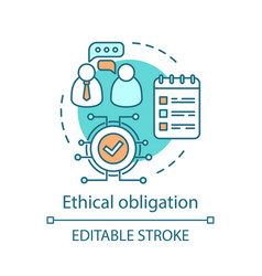 Ethical obligation concept icon vector