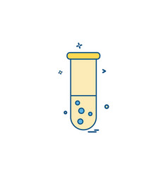 experiment science test tube icon design vector image