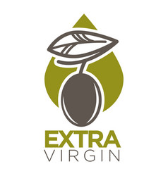 Extra virgin logo design of company label vector