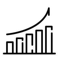 Finance graph grow icon outline style vector