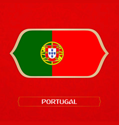 Flag of portugal is made in football style vector