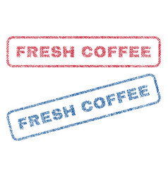 Fresh coffee textile stamps vector