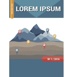 Geology science magazine brochure or book cover vector