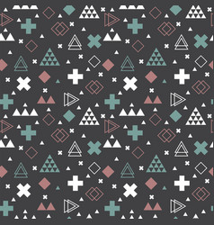 Geometric scandinavian seamless pattern tribal vector