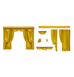 golden curtains for theater stage or cinema vector image