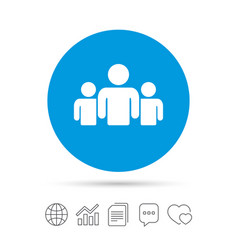 group of people sign icon share symbol vector image