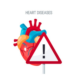 Heart diseases concept in flat style vector