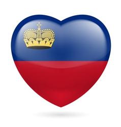 Heart icon liechtenstein vector