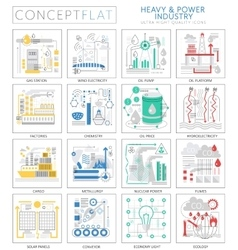 Infographics mini concept Heavy and power industry vector image