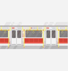 interior empty subway train vector image