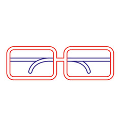 Isolated glasses design vector