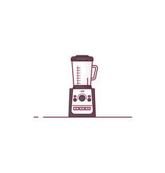 kitchen blender line style vector image