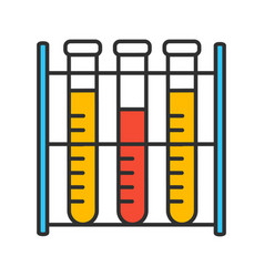 Lab analysis color icon vector