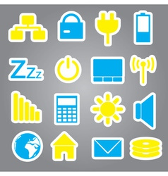 laptop and pc indication stickers eps10 vector image