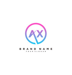 Letter ax logo design vector