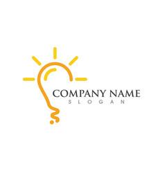 Light bulb symbol logo template vector