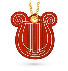 Lire musical instrument vector image