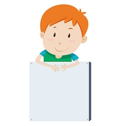 Little boy and empty board vector image
