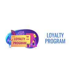 Loyalty program concept banner header vector