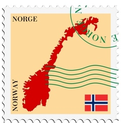 Mail to-from Norway vector