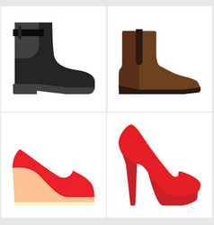 Man and woman shoes vector
