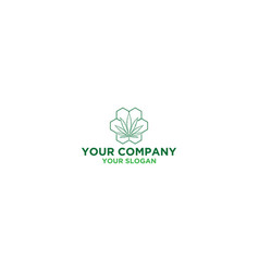 Medical cannabis logo design vector