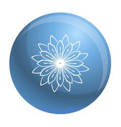 Medicine flower plant icon simple style vector