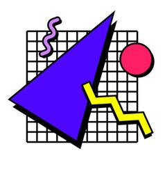 memphis elements 80s vector image