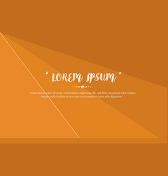 modern background design with orange color abstrat vector image