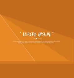 Modern background design with orange color abstrat vector