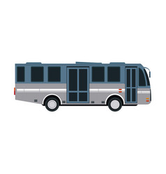 Modern public transport bus city transit shorter vector