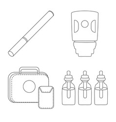 Nicotine and filter icon vector