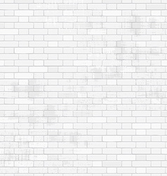 Old white brick wall for your design seamless vector